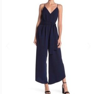 V-Neck Cami Jumpsuit Sexy Trendy Wide Leg NEW